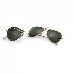 ray-ban aviator gold folding