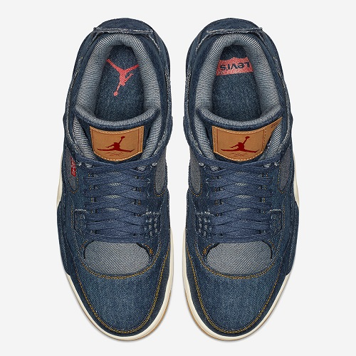 buy online b47c9 02c7e Levi's x Air Jordan 4 Denim Sneakers