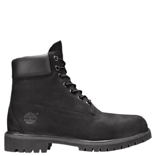 timberland leather black boots