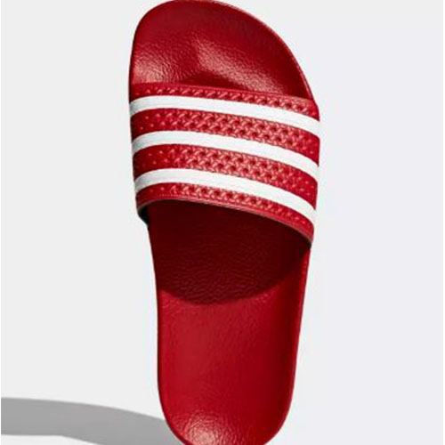huge discount ba17a 239b7 Adidas Adilette Slides – Red  White