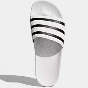 adidas adilette white slides