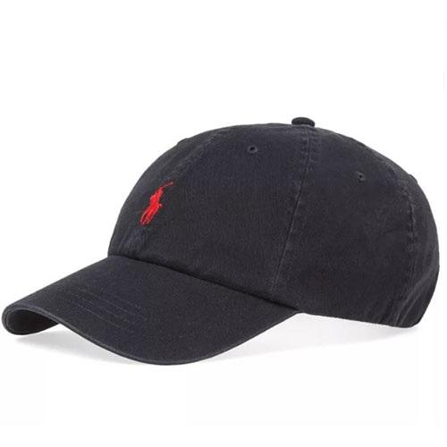 Polo Ralph Lauren Black Chino Baseball Cap c764c0b0584