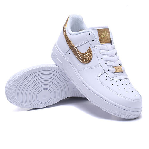 NIKE Nike air force 1 07 sneakers men AIR FORCE 1 CR7 GOLDEN PATCHWORK AQ0666 100 white white