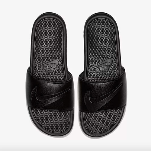 90702894ed10 Swoosh  Nike Benassi Swoosh Detachable JDI Slides - Black