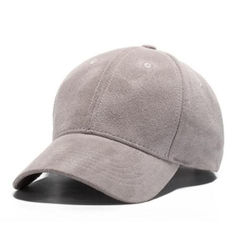 Suede Baseball Cap – Grey 63a879caa2a