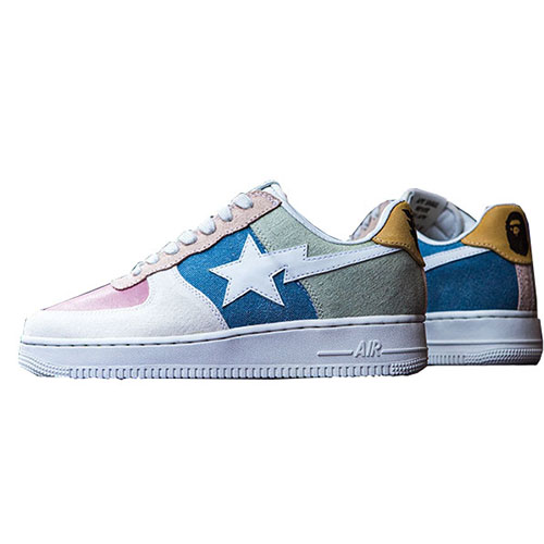 Human Made x BAPE x Air Force 1 By BespokeIND For Sale