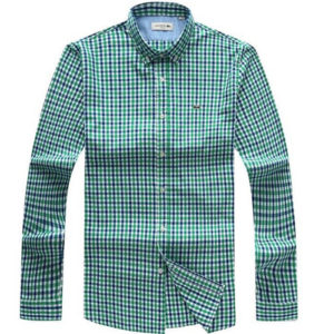 Lacoste Green Checkered Long Sleeve Shirt
