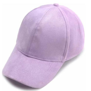 Plain Suede Baseball Cap – Purple