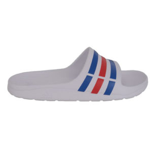 Adidas Duramo Slide - White, Blue & Red