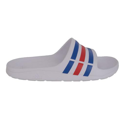 Adidas Duramo Slide - White, Blue & Red