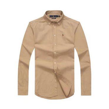 Ralph Lauren Brown Oxford Long Sleeve Shirt