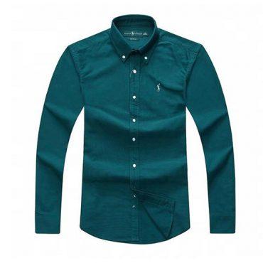 Ralph Lauren Oxford Long Sleeve Shirt - Dark Green