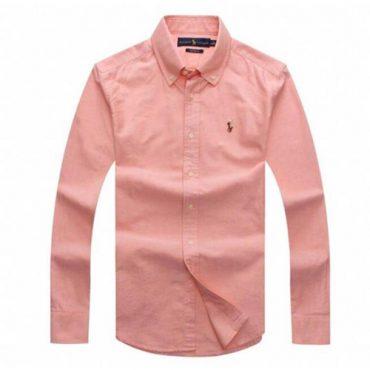 Ralph Lauren Peach Oxford Long Sleeve Shirt
