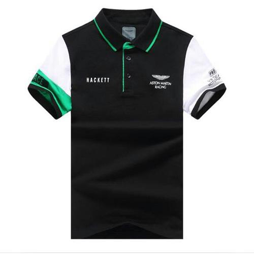 Aston Martin Racing Hackett Polo-White Black