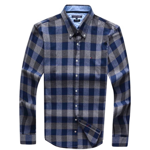 Tommy Hilfiger Blue Plaid Oxford Shirt