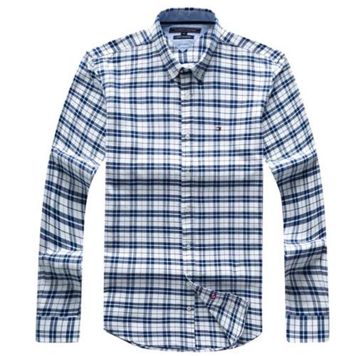 Tommy Hilfiger Plaid Oxford Shirt-Blue