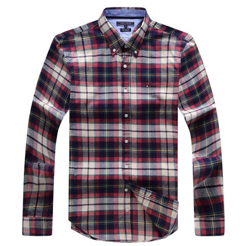 Tommy Hilfiger Red Plaid Oxford Shirt