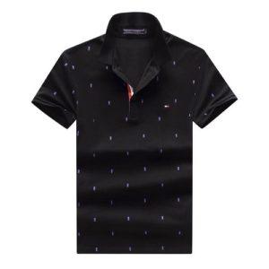 Tommy Hilfiger Slim Fit Logo Embroidered Polo_Black