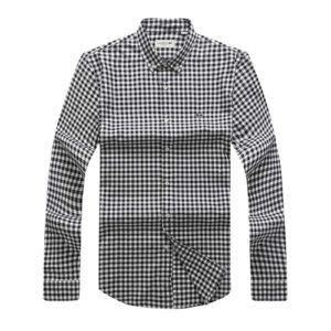 Lacoste Black Checkered Long