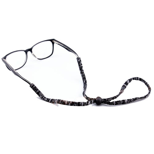 eyeglasses neck cord black/white
