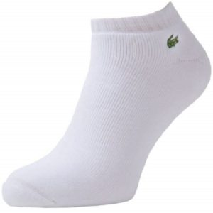 lacoste white ankle sock