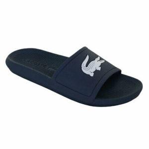 Lacoste Croco Slides blue