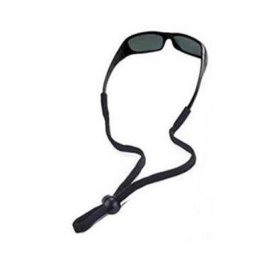 eyeglass neck cord black