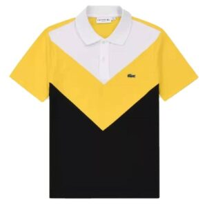 lacoste multicolour yellow polo