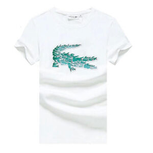 lacoste printed t-shirt white