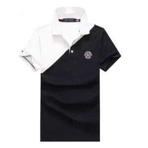 tommy white black polo