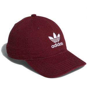 adidas baseball burgundy cap
