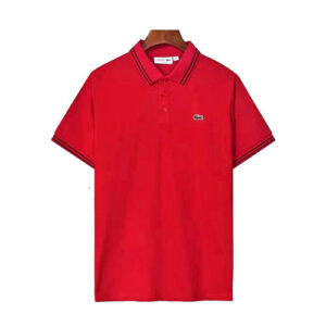 lacoste men's polo red