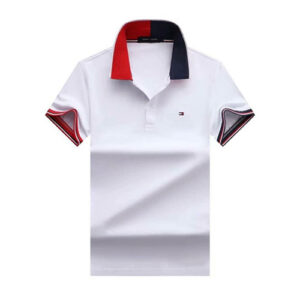 tommy flag neck white