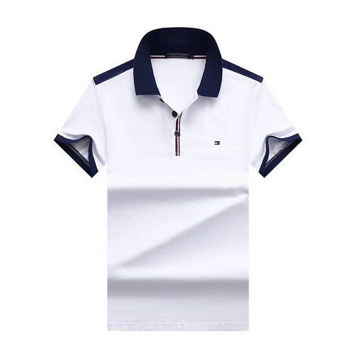 tommy casual white polo