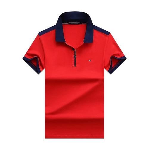 tommy casual red polo