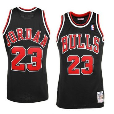 chicago bulls black Jersey