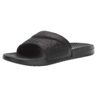 nike benassi black croc