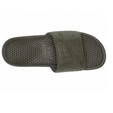Nike Benassi JDI Croc Slides - Green