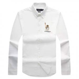 polo bear shirt white
