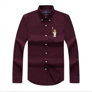 polo bear shirt Burgundy