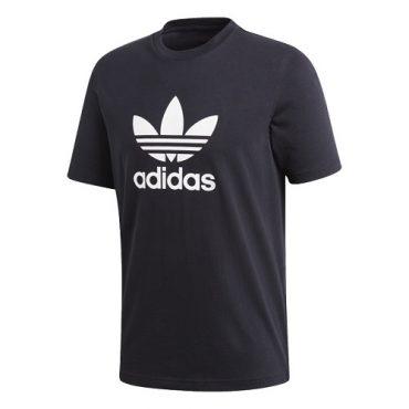 adidas trefoil black tee