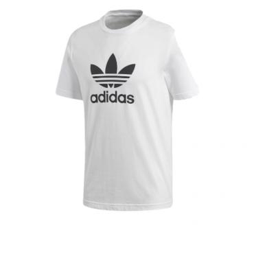 adidas trefoil white tee