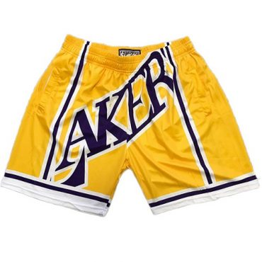 Lakers Yellow Short Basketball