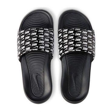 nike victori slide black/white-black