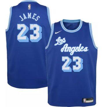 Lebron Lakers blue jersey