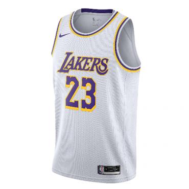 Lebron James Swingman White Lakers Jersey