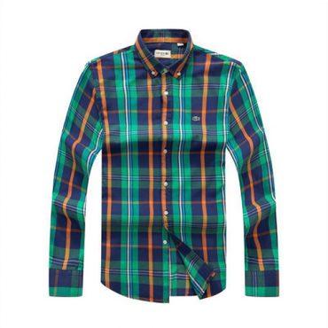 Lacoste Checkered green/blue shirt