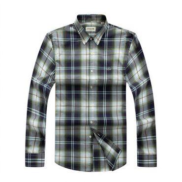 Lacoste Checkered grey/navy shirt