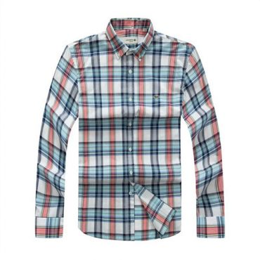 Lacoste Checkered pink shirt