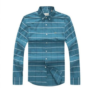 Lacoste Checkered sky-blue shirt